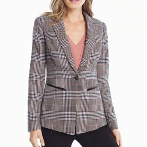 WHBM Blue & Pink Plaid Blazer